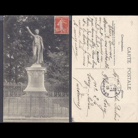 Carte postale 01 - Belley - Statue Lamartine - 1