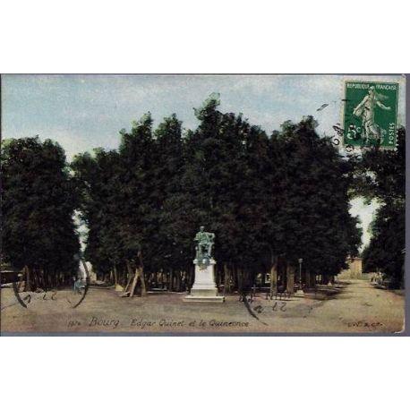 Carte postale 01 - Bourg - Edgar Quinet et la Quineonce - Voyage - Dos divise