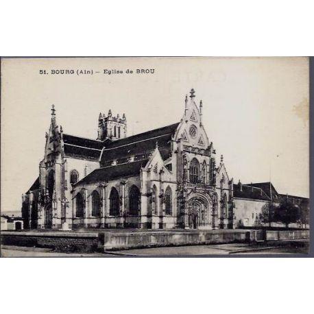 Carte postale 01 - Bourg ( Ain) Eglise de Brou - voyage - Dos divise
