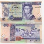 Billet de collection Belize Pk N° 72 - 2 Dollars