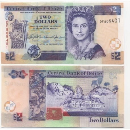 Belize - Pk: # 72 - Ticket 2 Dollars