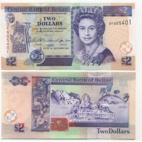 Belize - Pk N° 72 - Billet de 2 Dollars