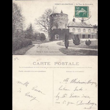 Carte postale 02 - Coucy le Chateau - La Tour de Moyembrie