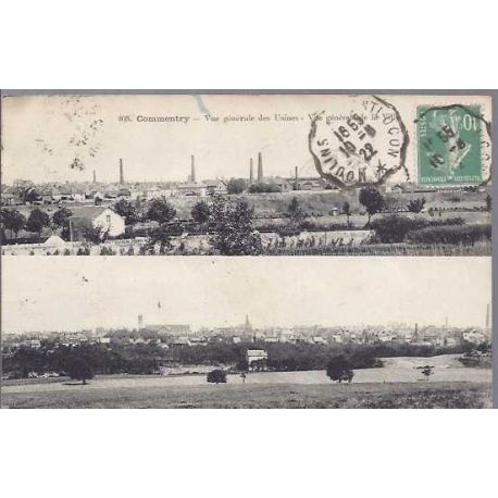 Carte postale 03 - Commentry - Vue generale des usines