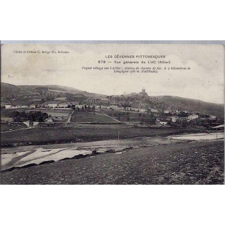 03 - Luc - Les cevennes pittoresques - Vue generale de Luc - Voyage - Dos di...