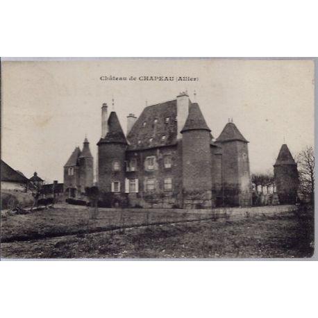 03 - Montbeugny - Chateau de Chapeau- Voyage - Dos divise...