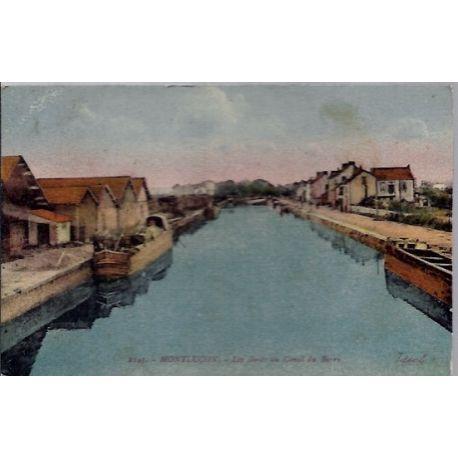 03 - Montlucon - Les bords du canal du Berry - Non voyage- Dos divise...