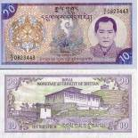 Beautiful banknote Bhutan Pick number 22 - 10 Ngultrum 2000