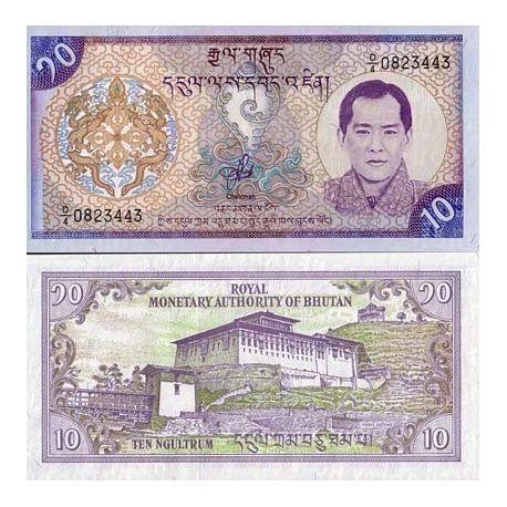 Billets de banque Bhoutan Pk N° 22 - 10 Ngultrum