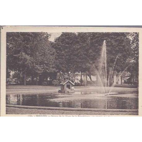 03 - Moulins - Square de la republique - Bassin des cygnes