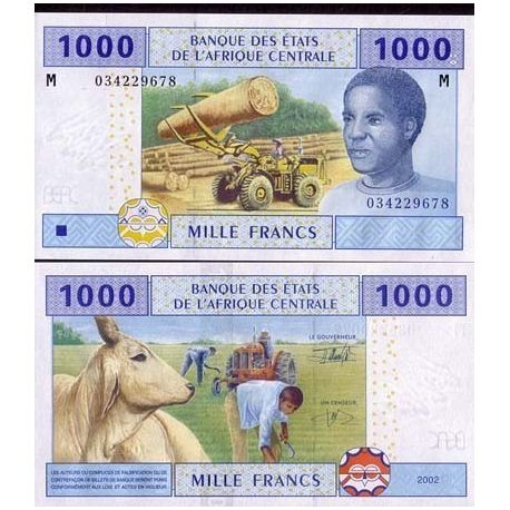 Central Africa Central African Republic - Pk # 307 - ticket 1000 Francs
