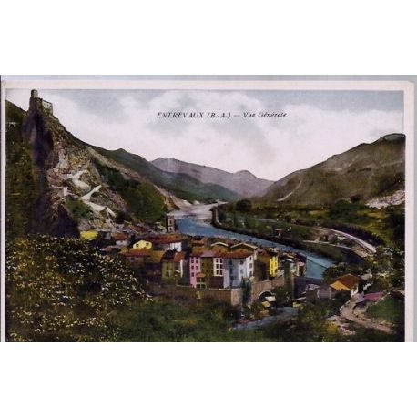 Carte postale 04 - Entrevaux - Vue generale - Non voyage - Dos divise...
