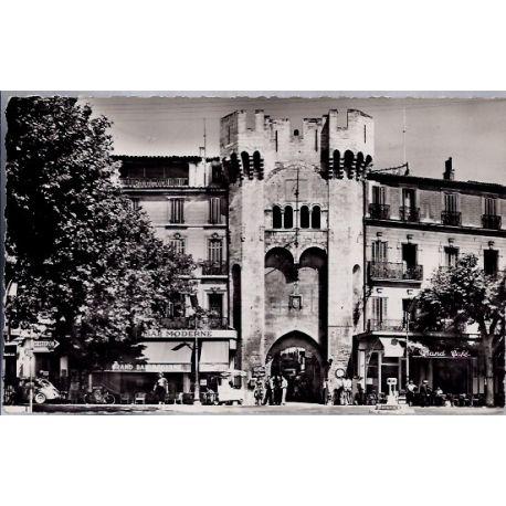 Carte postale 04 - Manosque - Porte Saunerie - Voyage - Dos divise...