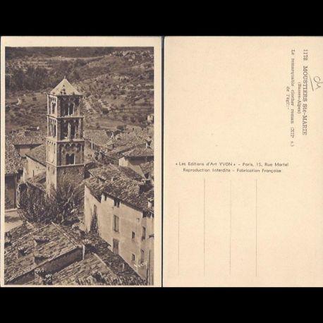 Carte postale 04 - Moustiers Ste Marie - Le remarquable clocher roman