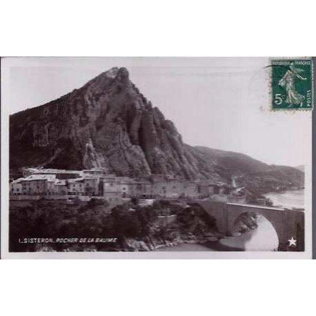 Carte postale 04 - Sisteron - Rocher de la Baume - Voyage - Dos divise
