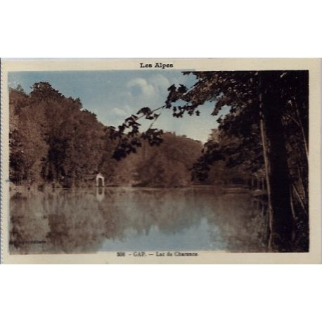 Carte postale 05 - Gap - Lac de Charance- Non voyage - Dos divise...