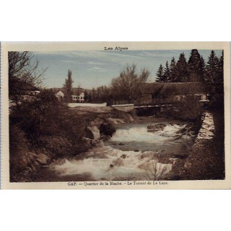 Carte postale 05 - Gap - Quartier de la Blache - Le torrent de la Luye - Non voyage - Dos ...