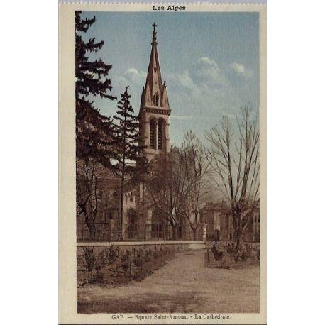 05 - Gap - Square Saint-Arnoux - La cathedrale - Non voyage - Dos divise...