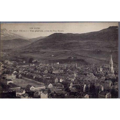Carte postale 05 - Gap (735m) - Les Alpes - Vue generale, prise du Puy-Maure - Non voyage -