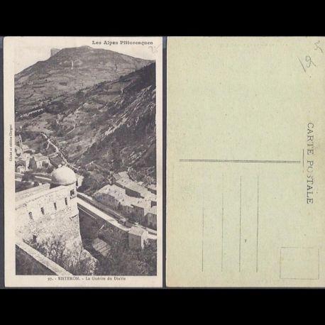 Carte postale 05 - Sisteron - La guerite du Diable