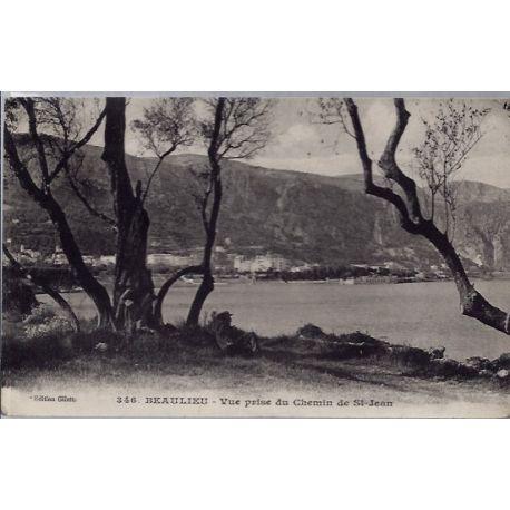 06 - Beaulieu - Vue prise du chemin de St Jean - Voyage - Dos divise...