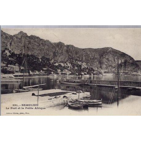 06 - Beaulieu- Le port et la petite Afrique - Voyage - Dos non divise...