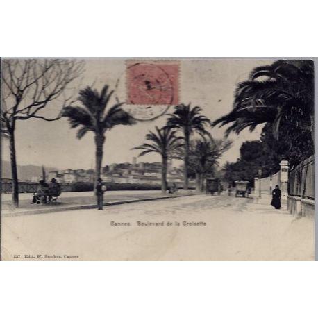 06 - Cannes - Boulevard de la croisette - Voyage - Dos divise...