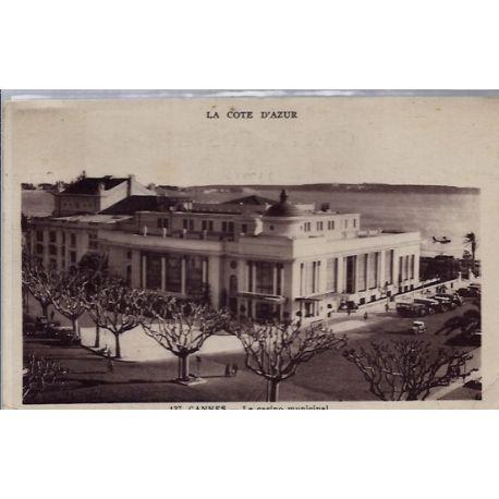 06 - Cannes - Le casino Municipal - Voyage - Dos divise...
