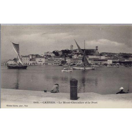 06 - Cannes - Le Mont-Chevalier et le Port- Non voyage - Dos non divise...