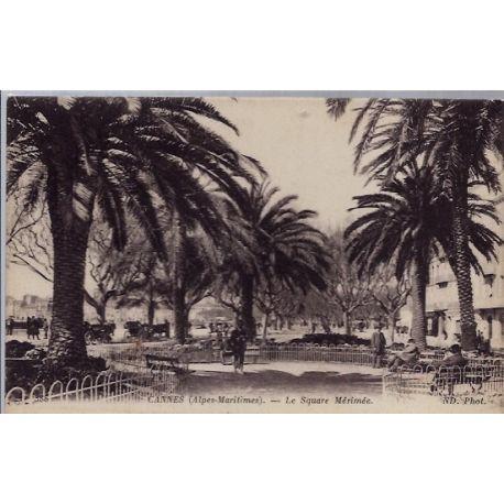 06 - Cannes - Le square Merimee - Voyage - Dos divise...