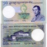 Precioso de billetes Bhután Pick número 29 - 10 Ngultrum 2006