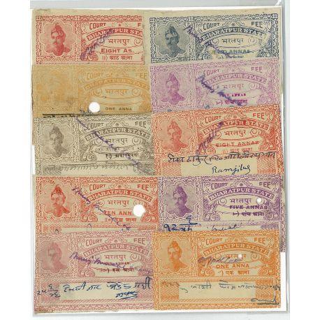 Bharatpur - 10 verschiedene Briefmarken