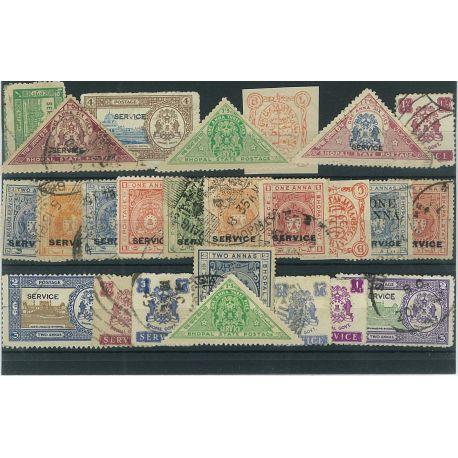 Bhopal - 10 verschiedene Briefmarken