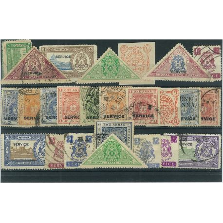 Bhopal - 10 different stamps