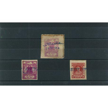 Bhor - 3 verschiedene Briefmarken