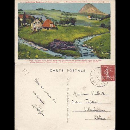 Carte postale 07 - Le gerbier des Joncs - Premier confluent de la Loire au Cros de Lizeret