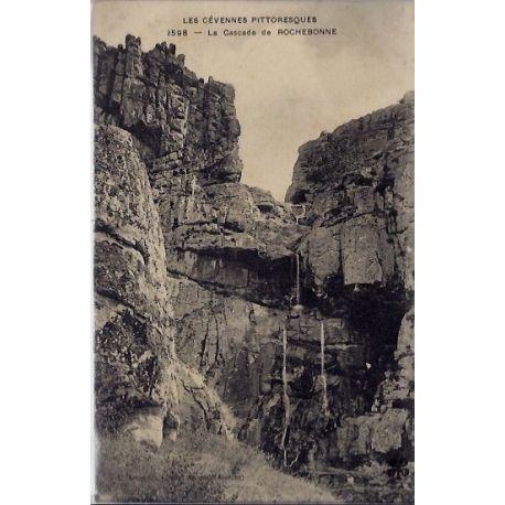 Carte postale 07 - Rochebonne - La cascade - Les cevennes pittoresques - Voyage - Dos divi...