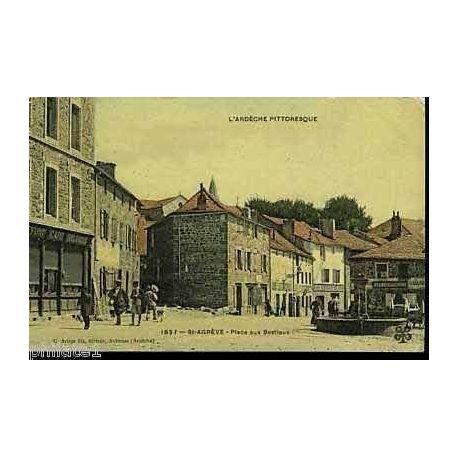 Carte postale 07 - Saint-Agreve - Place aux bestiaux