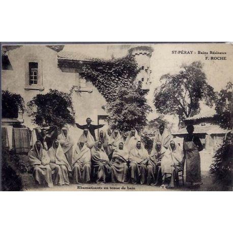 Carte postale 07 - St-Peray - Bains Resineux F.roche - Rhumatisants en tenue de bains - Non