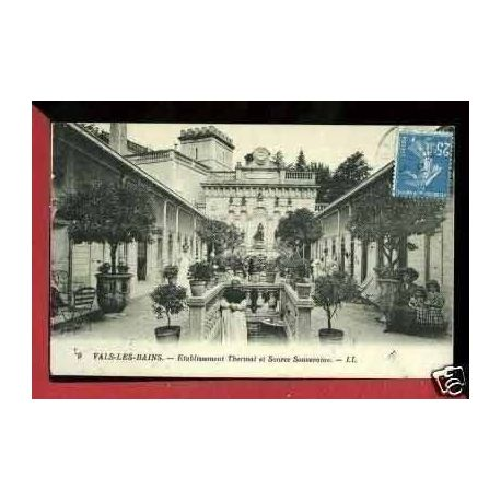 Carte postale 07 - VALS LES BAINS - ETABLISSEMENT THERMAL