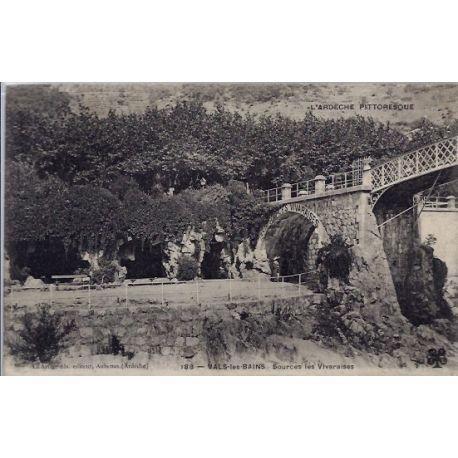 Carte postale 07 - Vals-les-bains - Sources les Vivaraises - Voyage - Dos divise...