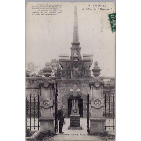"""Carte postale 08 - Bazeilles - La crypte ou Ossuaire"""" - Voyage - Dos divise..."""""""""""""""