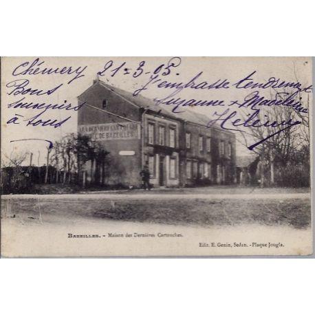 Carte postale 08 - Bazeilles - Maison des dernieres cartouches- Voyage - Dos divise...