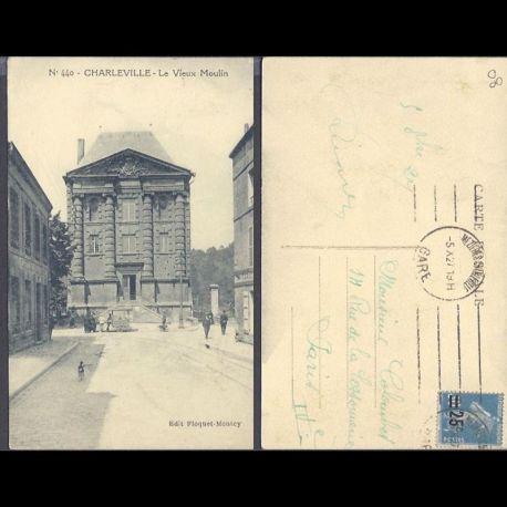 Carte postale 08 - Charleville - Le vieux moulin - Animee