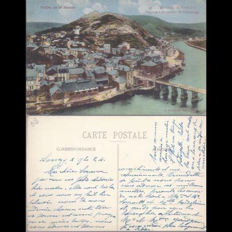 Carte postale 08 - Chateau Regnault - Vue prise a la carriere de l'Hermitage