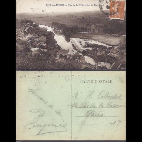 Carte postale 08 - Dun sur Meuse - Vue de la ville prise de Dun-Haut