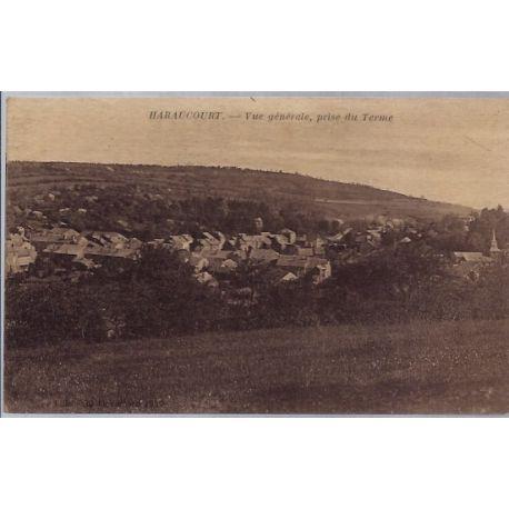 Carte postale 08 - Haraucourt - Vue generale, prise du Terme - Non voyage - Dos divise...