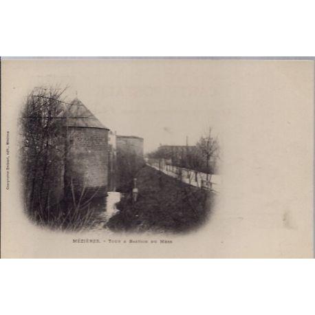 Carte postale 08 - Mezieres - Tour et Bastion du Mess - Non voyage - Dos non divise...