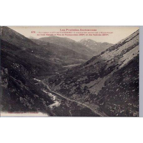 Carte postale 09 - Environs d' Ax-les-Thermes - L' Ariege en Amont de l' Hospitalet au fon...