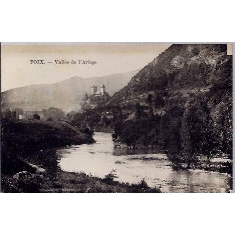 Carte postale 09 - Foix - Vallee de l' Ariege - Non voyage - Dos divise...